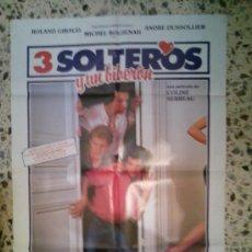 Cine: 3 SOLTEROS Y UN BIBERON - 70X100. Lote 31272704