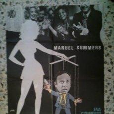 Cine: JUEGOS DE SOCIEDAD - 67X100 - MANUEL SUMMERS / DIDI SHERMAN. Lote 31930264
