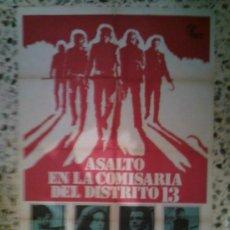 Cine: ASALTO A LA COMISARIA DEL DISTRITO 13 - 70X100 - JOHN CARPENTER. Lote 31272821