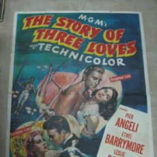 Cine: POSTER AMERICANO - TRES AMORES - THE STORY OF THREE LOVES - PIER ANGELI, KIRK DOUGLAS - AÑO 1953. Lote 31344551