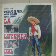 Cine: LA LEYENDA DEL BANDIDO - RODOLFO DE ANDA, SONIA INFANTE, ANGEL GARASA - IMPRESO EN MEXICO. Lote 31346738
