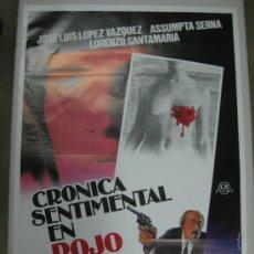 Cine: CRONICA SENTIMENTAL EN ROJO - J.L. LOPEZ VAZQUEZ, ASSUMPTA SERNA. Lote 57056301
