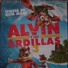 Cine: ALVIN Y LAS ARDILLAS 3, DIBUJOS ANIMADOS. POSTER. Lote 31597991