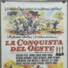 Cine: E1515 LA CONQUISTA DEL OESTE JOHN WAYNE POSTER ORIGINAL 70X100 ESPAÑOL. Lote 31603486