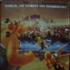 Cine: ASTERIX Y LOS VIKINGOS, DIBUJOS ANIMADOS. POSTER.. Lote 31616610