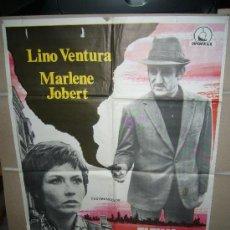 Cine: ULTIMO DOMICILIO CONOCIDO LINO VENTURA MARLENE JOBERT POSTER ORIGINAL 70X100 YY(442). Lote 31620037