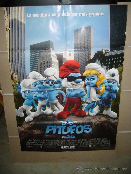 LOS PITUFOS 3 D POSTER ORIGINAL 70X100 (Cine - Posters y Carteles - Infantil)