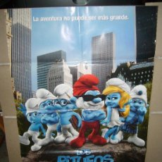 Cine: LOS PITUFOS 3 D POSTER ORIGINAL 70X100. Lote 46290323