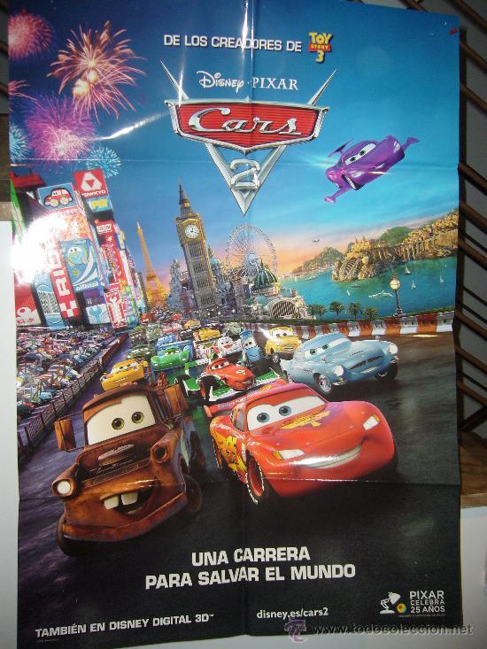 cars 2 disney pixar poster original 70x100 comprar carteles y posters de pel culas infantiles. Black Bedroom Furniture Sets. Home Design Ideas
