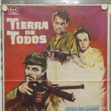 Cine: PA33 TIERRA DE TODOS ANTONIO ISASI GUERRA CIVIL POSTER ORIGINAL 70X100 DEL ESTRENO. Lote 31758594