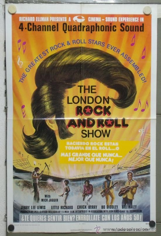 PA41 THE LONDON ROCK AND ROLL SHOW MICK JAGGER JERRY LEE LEWIS BILL HALEY POSTER ORIGINAL USA 70X105 (Cine - Posters y Carteles - Musicales)