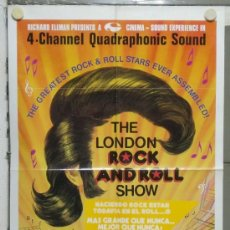 Cine: PA41 THE LONDON ROCK AND ROLL SHOW MICK JAGGER JERRY LEE LEWIS BILL HALEY POSTER ORIGINAL USA 70X105. Lote 31760245