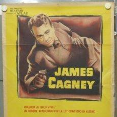 Cine: PA42 CORAZON DE HIELO JAMES CAGNEY POSTER ORIGINAL ARGENTINO 75X110 LITOGRAFIA. Lote 31771410