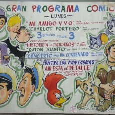 Cine: POSTER CARTEL PINTADO A MANO CANTINFLAS CHAPLIN LAUREL HARDY CANTINFLAS ABBOT COSTELLO TOM JERRY. Lote 31893715