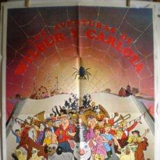 Cine: CARTEL DE CINE: LAS AVENTURAS DE WILBUR Y CARLOTA (100 X 70 CM.). Lote 31864901