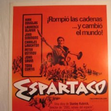 Cine: ESPARTACO. (S.KUBRICK - KIRK DOUGLAS) (1981). Lote 24208791