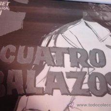Cine: GRAN CARTEL CINE ORIGINAL - CUATRO BALAZOS 1980 - 70X100 CINE ¡¡ SIN DOBLECES ¡¡ ESPAGETI WENSTER. Lote 170609162