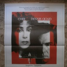 Cine: SOSPECHOSO. CHER, DENNIS QUAID. AÑO 1987.. Lote 32067992