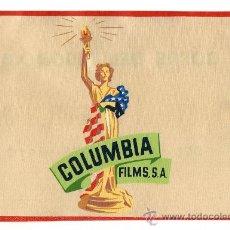 Cine: BANDERIN DE CINE DE COLUMBIA FILMS S.A. COFRE DEL TESORO 62 HASTA EL TOPE DEL MASTIL 1962. Lote 26508515