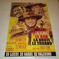 Cine: EL BUENO, EL FEO Y EL MALO.SERGIO LEONE.CLINT EASTWOOD, LEE VAN CLEEF, ELI WALLACH.. Lote 32082766