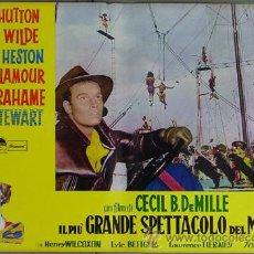 Cine: DW74D EL MAYOR ESPECTACULO DEL MUNDO CHARLTON HESTON CIRCO SET DE 12 POSTERS ORIGINAL ITALIANO 47X68. Lote 32082845