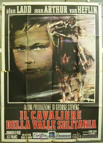 TT53D RAICES PROFUNDAS ALAN LADD JEAN ARTHUR BRINI POSTER ORIGINAL ITALIANO 140X200 (Cine - Posters y Carteles - Westerns)