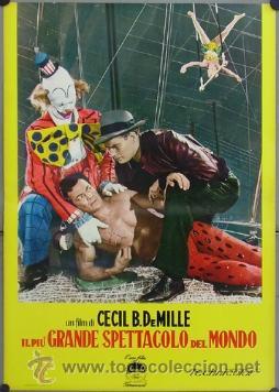 Cine: DW74D EL MAYOR ESPECTACULO DEL MUNDO CHARLTON HESTON CIRCO SET DE 12 POSTERS ORIGINAL ITALIANO 47X68 - Foto 4 - 32082845