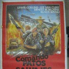 Cine: COMANDO PATOS SALVAJES - LEWIS COLLINS, LEE VAN CLEEF, ERNEST BORGNINE - AÑO 1985. Lote 32090151
