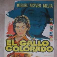 Cine: EL GALLO COLORADO, MIGUEL ACEVES MEJIA, ROSITA ARENAS, HUGO AVENDAÑO-LITOGRAFIA-ILUSTR: MARTI RIPOLL. Lote 32117253