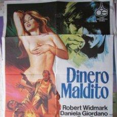 Cinéma: CARTEL DE CINE- MOVIE POSTER DINERO MALDITO, 1978 70X100 CM. JANO. Lote 32130668