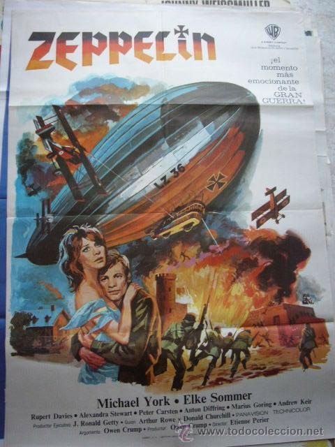 CARTEL DE CINE- MOVIE POSTER ZEPPELIN, 1971. 70X100 CM. MONTALBAN (Cine - Posters y Carteles - Bélicas)