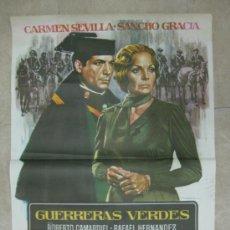 Cine: GUERRERAS VERDES - CARMEN SEVILLA, SANCHO GRACIA - AÑO 1976 - ILUSTRADO POR MAC. Lote 84342682