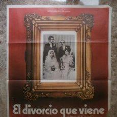 Cine: EL DIVORCIO QUE VIENE. JOSE L. LOPEZ VAZQUES, JOSE SACRISTAN. AÑO 1980.. Lote 32174782