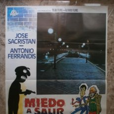Cine: MIEDO A SALIR DE NOCHE. JOSE SACRISTAN, ANTONIO FERRANDIS. AÑO 1980.. Lote 32175212