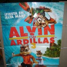 Cine: ALVIN Y LAS ARDILLAS 3 POSTER ORIGINAL 70X100. Lote 32196579