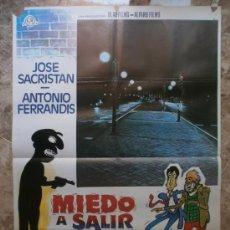 Cine: MIEDO AL SALIR DE NOCHE. JOSE SACRISTAN, ANTONIO FERRANDIS. AÑO 1980. . Lote 32208766