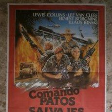 Cine: COMANDO PATOS SALVAJES. LEWIS COLLINS, LEE VAN CLEEF. AÑO 1985.. Lote 32238004