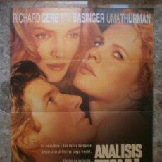Cine: ANALISIS FINAL. RICHARD GERE, KIM BASINGER, UMA THURMAN. AÑO 1992. Lote 288456138