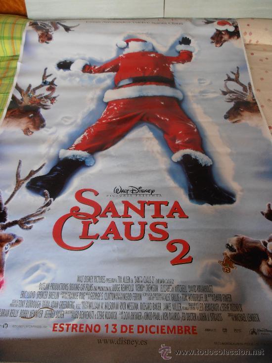 SANTA CLAUS 2,¡¡¡¡OJO!!!! CARTEL GIGANTE DE PAPEL DE 180X120 CM APROX.(1) (Cine - Posters y Carteles - Infantil)