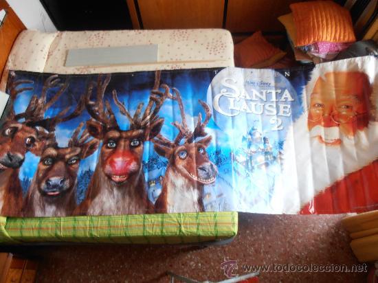 SANTA CLAUS 2,¡¡¡¡OJO!!!! CARTEL GIGANTE DE TELA/LONA/PLASTICO DE 300X120 CM APROX(10) (Cine - Posters y Carteles - Infantil)