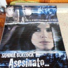 Cine: ASESINATO 1.2.3,¡¡¡¡OJO!!!! CARTEL GIGANTE DE TELA/LONA/PLASTICO DE 170X120 CM APROX(26). Lote 32318952