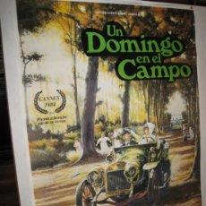 Cine: CARTEL ORIGINAL DE LA PELICULA - UN DOMINGO EN EL CAMPO - 1.984 ( 70 X 100 CMS. ). Lote 32346586