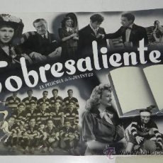 Cine: ANTIGUO PROTOTIPO DE CARTEL, CARTELERA, PROGRAMA DE CINE DE LA PELICULA SOBRESALIENTE DE MIGUEL LIGE. Lote 32339821