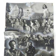 """Cine: ANTIGUO PROTOTIPO DE CARTEL, CARTELERA, PROGRAMA DE CINE DE LA PELICULA """"EL SANTUARIO NO SE RINDE"""". . Lote 32339924"""