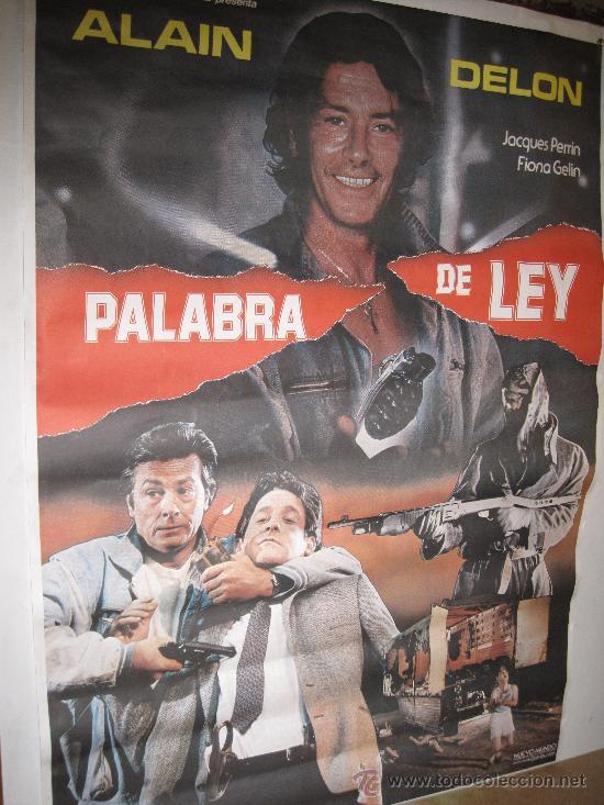 CARTEL ORIGINAL DE LA PELICULA - PALABRA DE LEY- 1.986 (Cine - Posters y Carteles - Acción)
