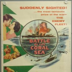 Cine: E2040D BATTLE OF THE CORAL SEA CLIFF ROBERTSON SUBMARINISMO WWII POSTER ORIGINAL AMERICANO 76X102. Lote 192545856