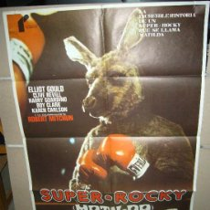 Cine: SUPER ROCKY MATILDA BOXEO ELLIOT GOULD ROBERT MITCHUM POSTER ORIGINAL 70X100 YY(503). Lote 32428733