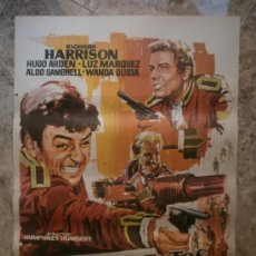 Cine: TRES SARGENTOS BENGALIES. RICHARD HARRISON, HUGO ARDEN, LUZ MARQUEZ. AÑO 1973.. Lote 32436145
