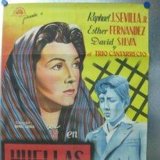 Cine: HUELLAS PERDIDAS.RAPHAEL SEVILLA,ESTHER FERNANDEZ.AÑO 1953. LITOGRAFIA.. Lote 32458883