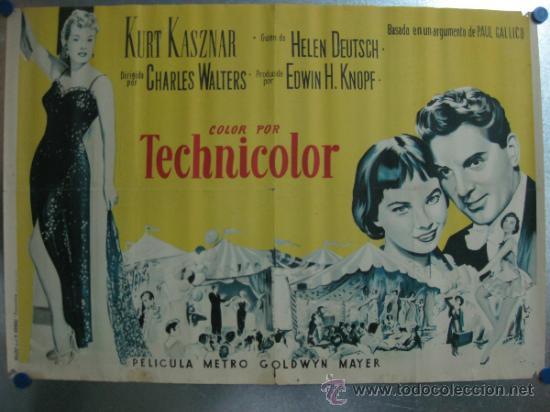 LILI .LESLIE CARON, MEL FERRER,ZSA ZSA GABOR.1954.LITOGRAFIA.1/ 2 CARTEL O 1/3 DE CARTEL. (Cine - Posters y Carteles - Musicales)